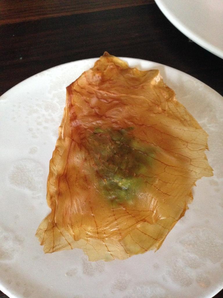 white cabbage & samphire